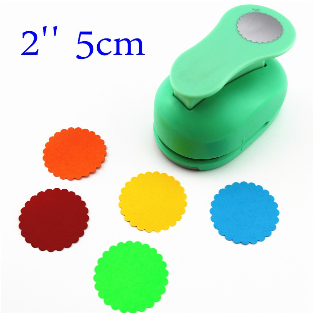 Large 2'' 5cm Circle Furador Paper Punches For Scrapbooking Craft Perfurador Diy Puncher Paper Circle Cutter3178