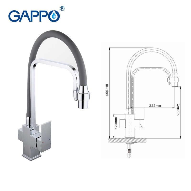 Gappo torneira da cozinha pia da cozinha misturador de água filtro torneira misturadora cozinha água potável deck montado griferia