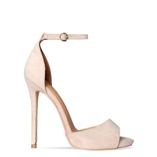 ФОТО Nude Simple Woman Shoes Ankle Strap Sandalias Femininas Moda 2016 Luxury Women Shoes Sandals Open Toe Stilettos Custom Colors