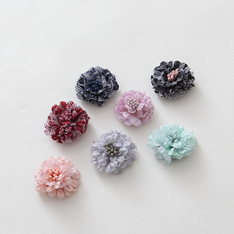 Back To Search Resultsjewelry & Accessories 20 Pcs Satin Cloth Gauze Flowers Connectors Diy Handmade Headwear Accessories For Jewelry Making Beads & Jewelry Making
