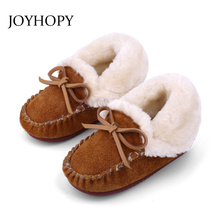 Kid Shoes Girls Boots Toddler Baby-Girl Genuine-Leather Ankle Princess Children Warm