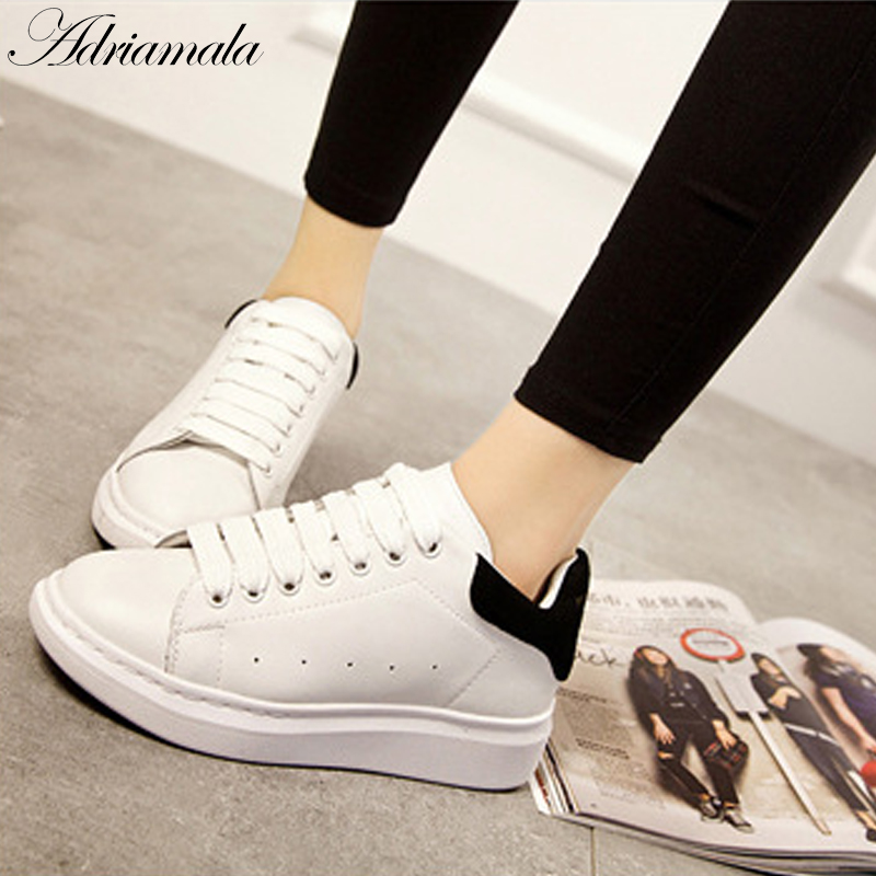 Chaussures à bout rond blanches Casual femme uD64wk