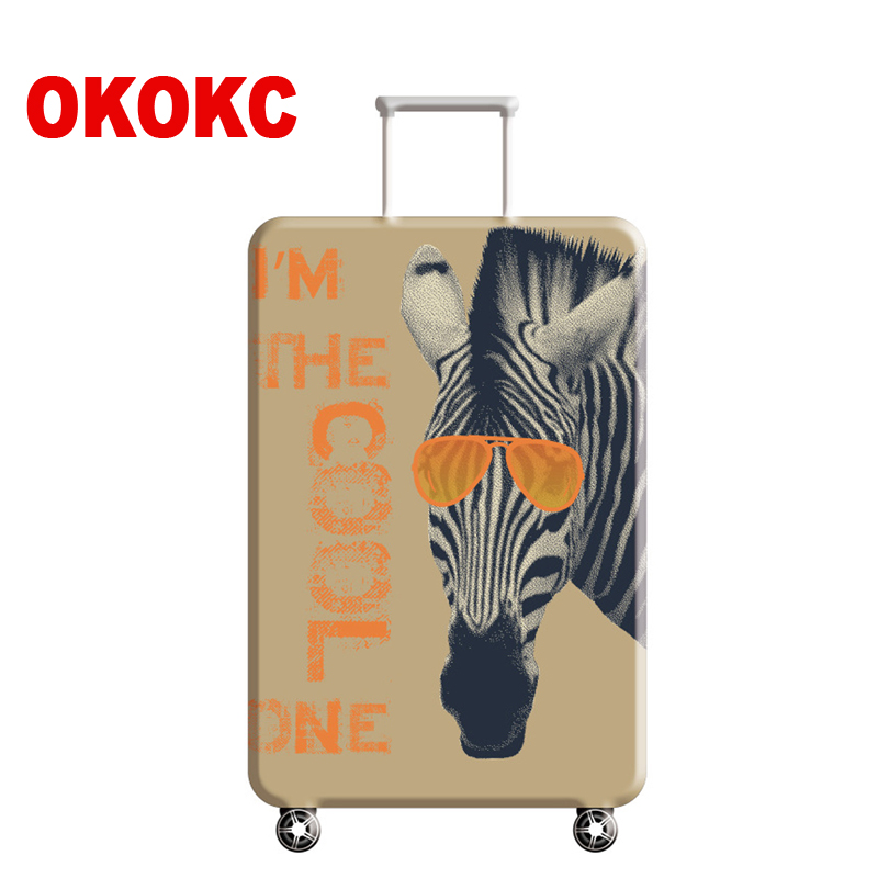 OKOKC Horse Suitcase Elastic Dust Luggage Protective Cover Suitable18-32 Inch Password Box Trolley Case,Travel Accessories цена