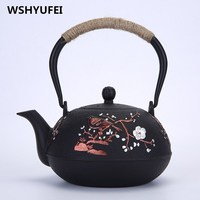 Japan Southern Cast iron kettle old iron pot shells Japanese tea pots health boiler scale iron pot 1000ml/ 1200ml