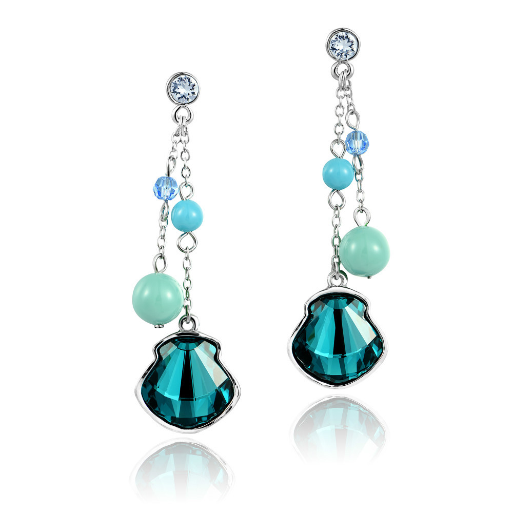 DORMITH High quality Green Austrian Crystal drop earrings for women jewelry