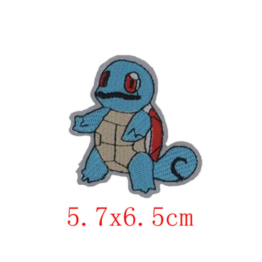 1Pcs Pokeball INSPIRED Animsl Iron On Patch Pikachu Bulbasaur Pocket Comics Woven Emblem applique Costume Cosplay Team clothing in Patches from Home Garden