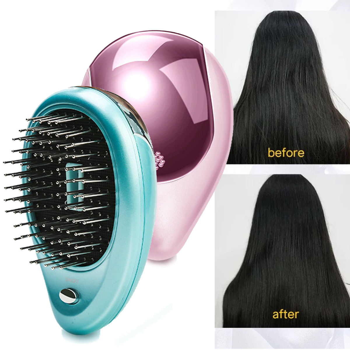 Electric Vibration Wireless Anti Hair Loss Magnetic Massage Comb Portable Ion Hair Growth Comb Hair Brush Relaxation Health Care