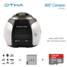 360 Cámara 4 k Wifi Mini Cámara Panorámica de 360 Grados 2448*2448 Ultra HD Panorama Sport Driving 360 Video cámara