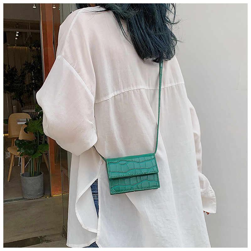 Batu Tas Bahu Selempang Wanita Kulit PU Tas untuk Wanita Mini Kecil Tas Kurir untuk Wanita 2019 Wanita Kopling Tas