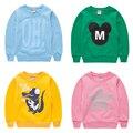 Historieta de la alta calidad 6 8 Bebé Niños Niñas Niños Coat Chaqueta Con Capucha Sweater Pullover Outwear