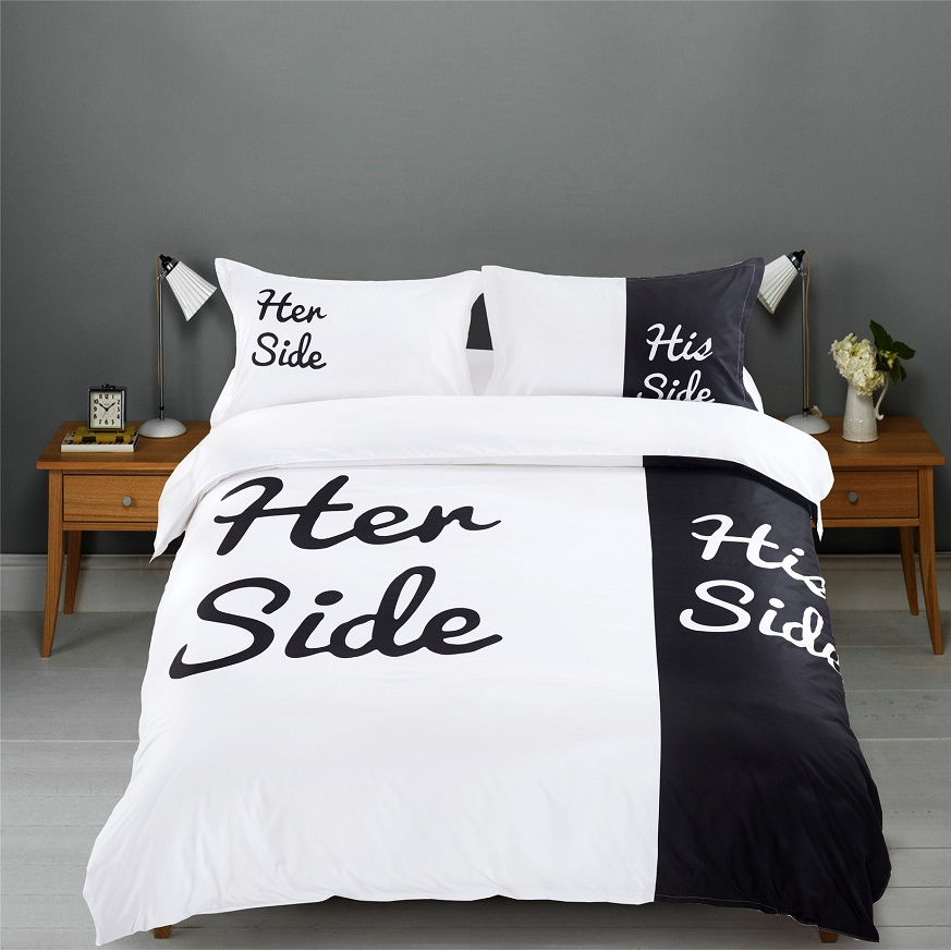 sale black white fashion design twin queen king bed sheet set bedclothes duvet cover set bedding - Twin Bed For Sale