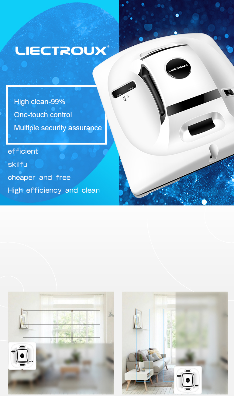 HTB1hqrQCL1TBuNjy0Fjq6yjyXXaX Liectroux X6 Robot Window Vacuum Cleaner Laser & Pressure Sensor Antifall Auto Glass Mop Home Floor Windows Wall Cleaning Robot