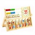 Material de Montessori Matemática Ábaco Brinquedos Cálculo Relógio Rosto Sorridente Crianças Estudo Educacional De Madeira Centro de Educação Precoce