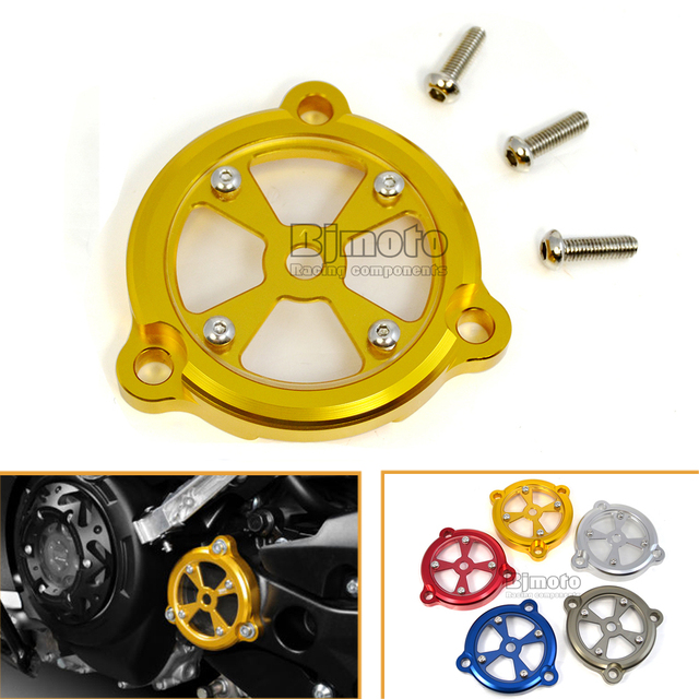 Hot Sale Gold Color Motorcycle Parts CNC Aluminum Frame Hole Cover Front Drive Shaft Cover For Yamaha T-max 530 2012-2016