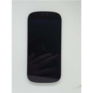 Image 2 - الأصلي الأسود مع الإطار الجبهة LCD ل Yotaphone 2 YD201 YD206 شاشة الكريستال السائل محول الأرقام + شاشة تعمل باللمس الجمعية + أدوات