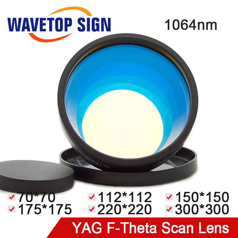 WaveTopSign F-theta Lens Field Lens 1064nm 70x70-300x300mm F100-420nm for YAG Optical Fiber Laser Marking Machine PartsWaveTopSign F-theta Lens Field Lens 1064nm 70x70-300x300mm F100-420nm for YAG Optical Fiber Laser Marking Machine Parts