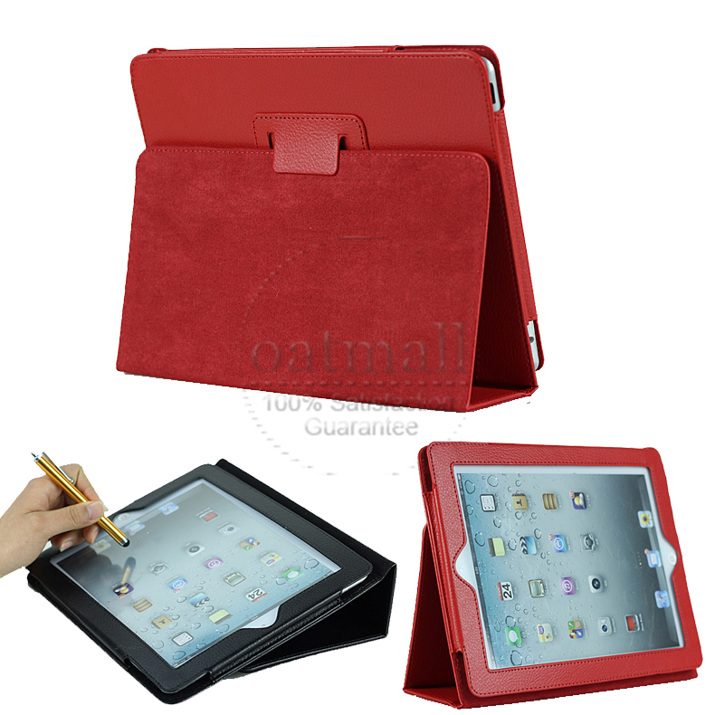 Smooth Surface PU Leather case for iPad 1 1st Magnets Flip Leather Cases Sleep Wake Smart