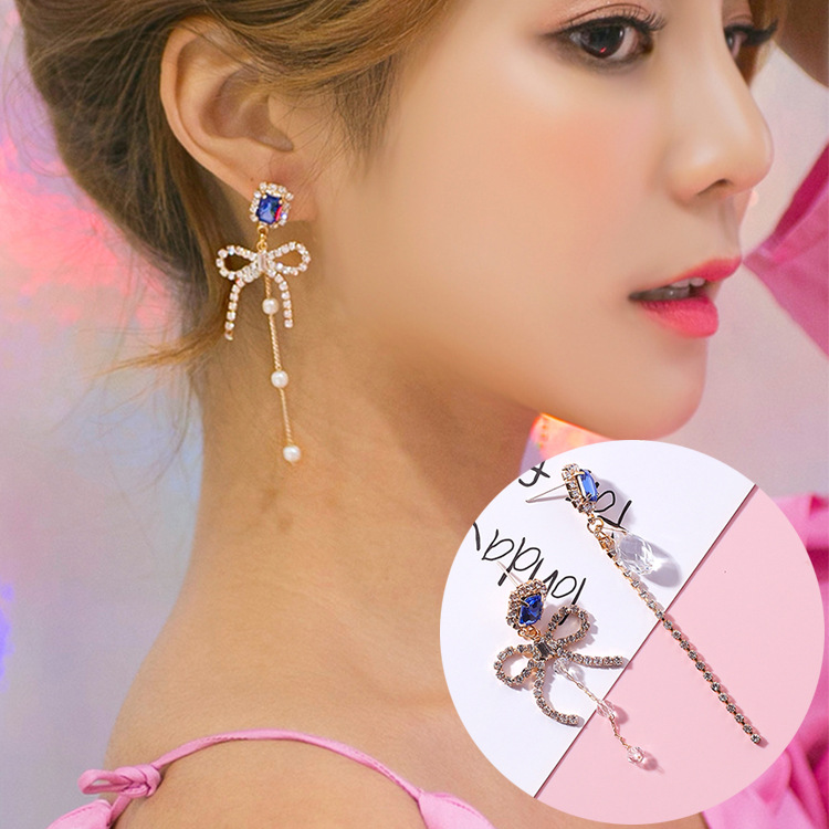 3pairs/lot South Korea Celebrity Joker Lady Bowknot