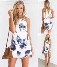 NiceMix Womens Fashion Dress Summer Boho Short Mini Neck Evening New Party Beach Dresses Sundress Sukienki damskie