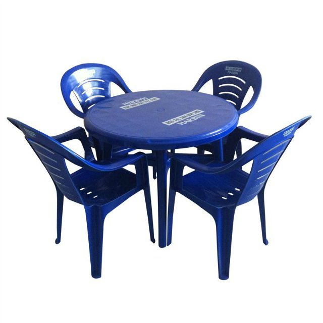 Stall Outdoor Leisure Thicker Section Plastic Furniture Suite Combination Barbecue Beach Chairs Whole