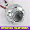 HID Bi-Xenon lente del proyector del faro kit para moto de la motocicleta universal bombilla, cubierta, Verde Azul Angel eye el ojo del diablo