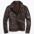 2015 The New fashion lapel Thicken Sheepskin leather Slim Short paragraph Men's leather jackets CMX 405