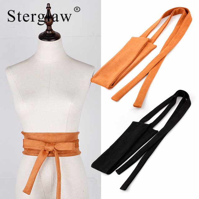 3630d06ac 220x9cm Sexy ladies dress cummerbunds wide girdle belts for women Extra long  soft Wide Waistband belt