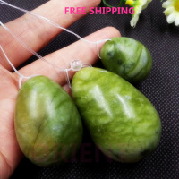 FREE SHIPPING Natural Jade Egg For Kegel Exercise 3pcs 1set Pelvic Floor Muscles Vaginal Exercise Yoni