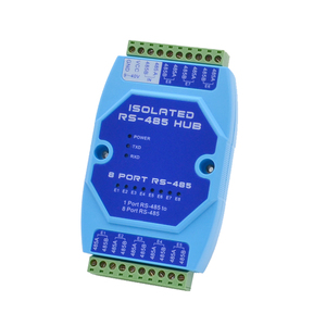 Image 3 - 8 port 485 Hub 8 channel RS485 Splitter 485 Sharer Industrial Grade Optically Isolated Repeater