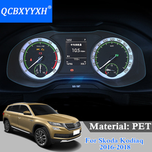 QCBXYYXH Car Styling Car Dashboard Paint Protective PET Film For Skoda Kodiaq Karoq 2018 2019 Light