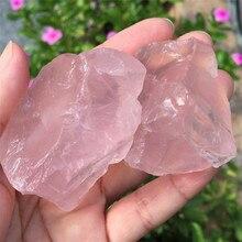 148g 2pcs Natural Pink Rose Quartz Crystal Rough Gemstone Specimen