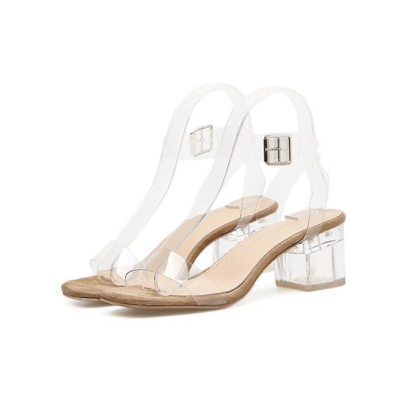Femmes Chaussures D'été Transparent Sexy Talons Cm 6 TlF1cKJ