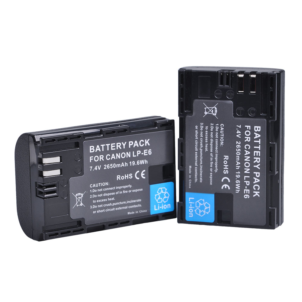 2x LP-E6 Replacement Li-ion Battery for Canon EOS 5D Mark II III 5DS 5DS R 6D 7D 60D 60Da 70D 80D 7D mark II III XC10 Cameras