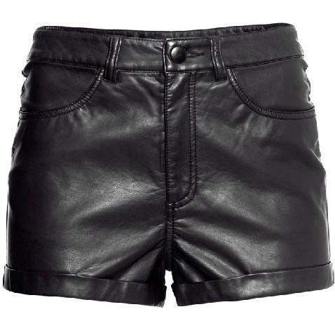 2016 women's leather shorts   high waist PU leather shorts