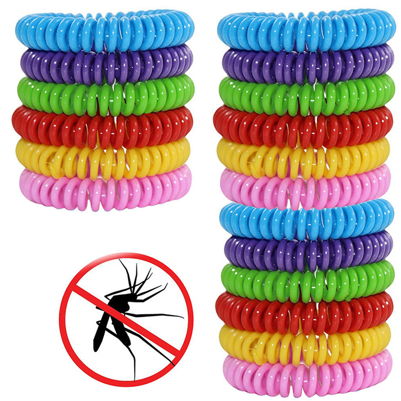 18pcs Anti Mosquito Repellent Bracelets Multicolor Pest Control Bracelets Insect Protection Camping Outdoor Adults Kids