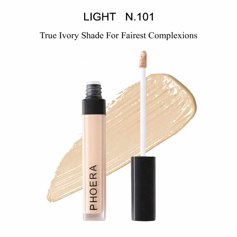PHOERA Líquido Corretivo Maquiagem Conveniente Cobertura Completa Olho Olheiras Pele Contorno Do Rosto Cosméticos Defeito 4 Cores New Escuro # um