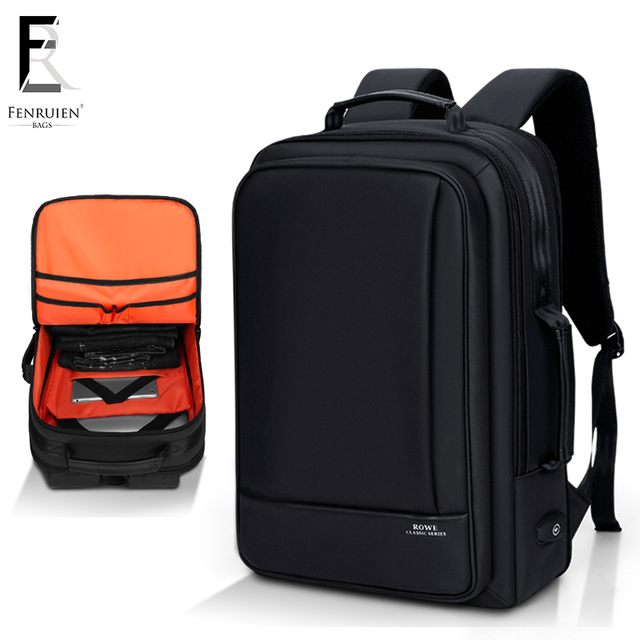 FRN Multifunction Business 15 inch Laptop Backpack Men Travel College Student Bag High Capacity Backpack Waterproof Male Mochila