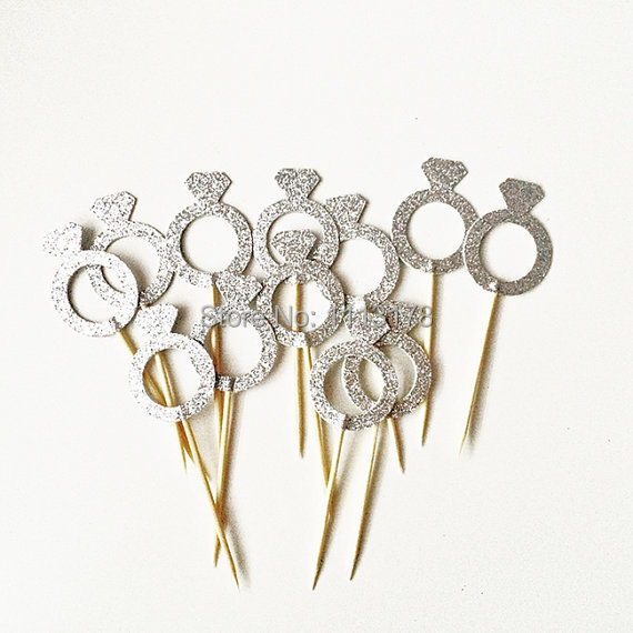 Cupcake Engagement Ring Topper