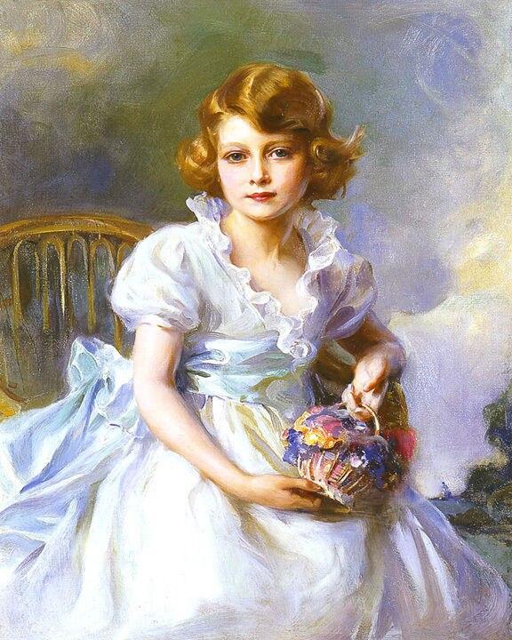 Young Queen Elizabeth 1 Dress Laszlo de Philip Young...