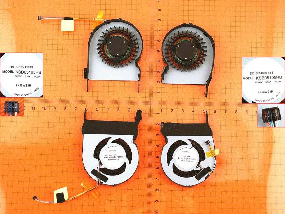 New Laptop Cooling Fan for HP Envy 13-1000 R&L fan Original P/N KSB05105HB-9D2N/KSB05105HB-9D2P CPU Cooler Radiator