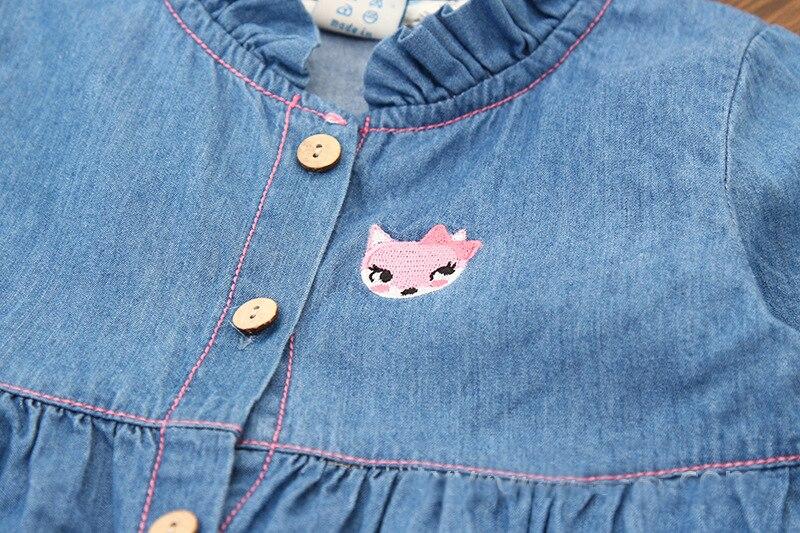 Neue Ankunft Mädchen Sommerkleid Denim Kleider Stickerei - Kinderkleidung - Foto 3