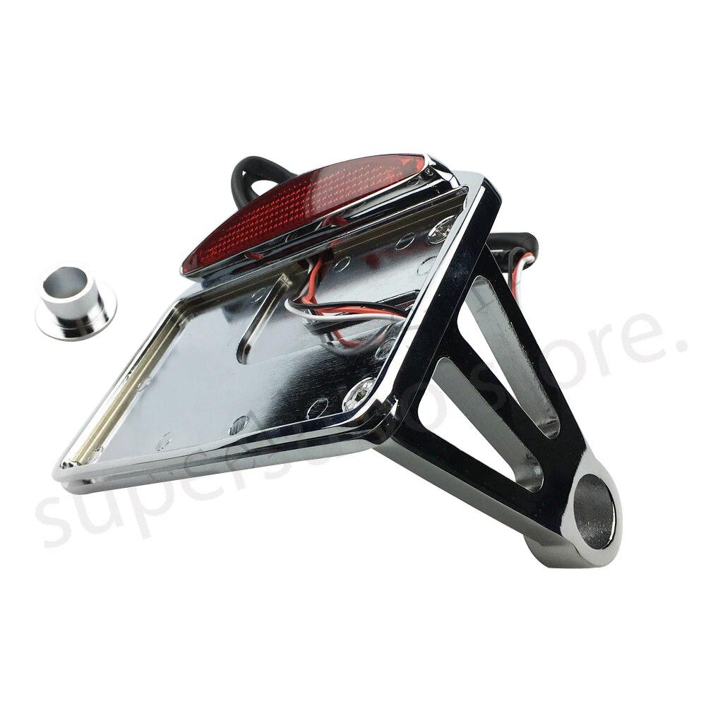 Montage latéral de Plaque D'immatriculation Support Queue Lumière Cadre Pour Harley Essieu Personnalisée Softail moto