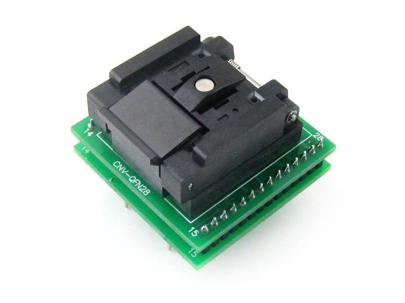 Waveshare QFN28 À DIP28 (C) Enplas IC Test Socket Programmeur Adaptateur 0.65mm Pitch pour QFN28 MLF28 MLP28 paquet