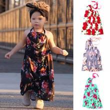 4d6525766 Kid Baby Girl Summer Floral Princess Party Prom Beach Long Maxi Dress  Sundress Baby Girl Printed