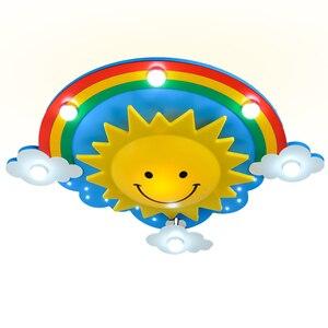 Image 5 - 크리 에이 티브 어린이 방 침실 천장 조명 따뜻한 빛 눈 led 소년과 소녀 만화 어린이 룸 조명
