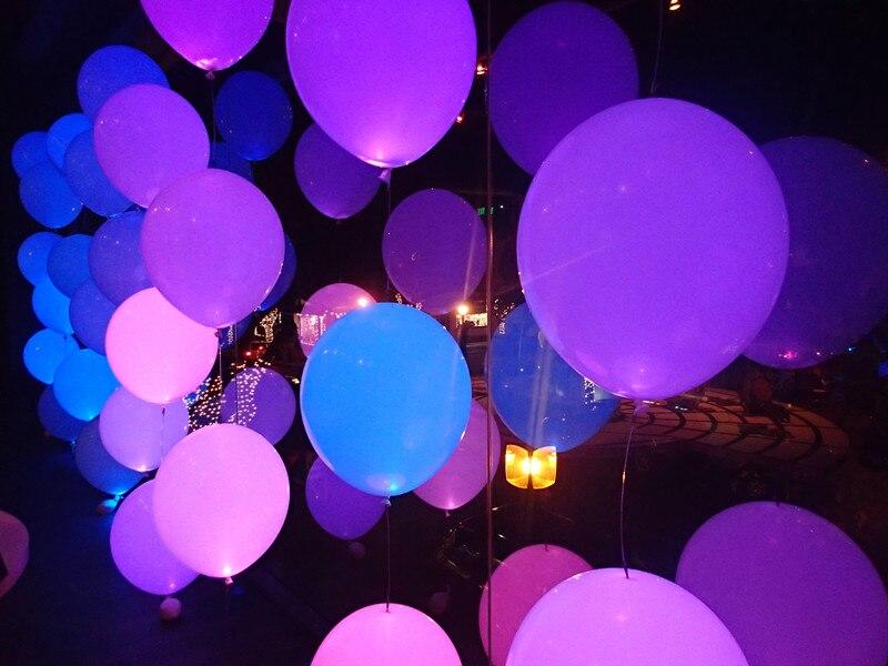 Ballonnen Met Licht : Stk pak mix kleur ballonnen met wit led licht voor party