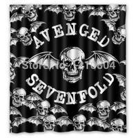 Punk Band Avenged Sevenfold Skull Logo Shower Curtain How Cool It is!! 60