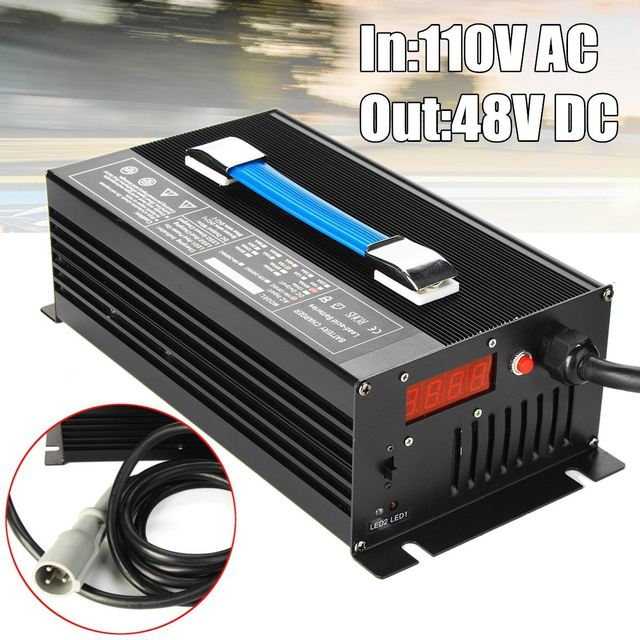 48v 15 Amp Club Car Golf Cart Battery Charger 48 Volt Round 3 Pin Plug