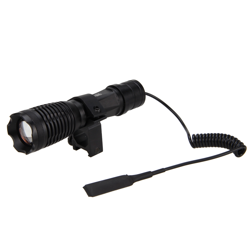 luz zoomable lnfrared radiação lanterna 4 ferramenta