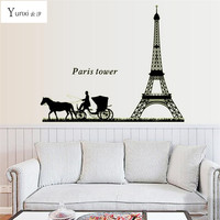 Yunxi Paris Tower Car Stickers Luminous Stickers Bedroom Living Room Sofa Background Decorative PVC Wall Stickers